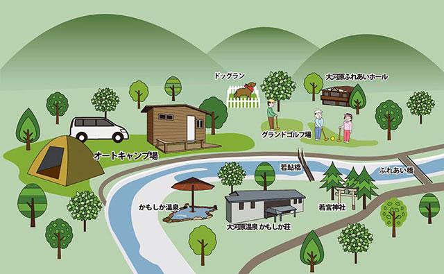 かもしかオートキャンプ場MAP