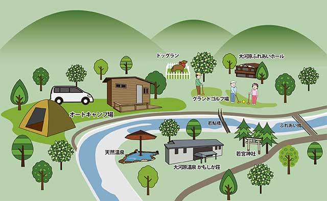 かもしかオートキャンプ場 地図